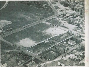 Great old photo for perspective on the area.  Our site never had buildings on it, just playing fields.